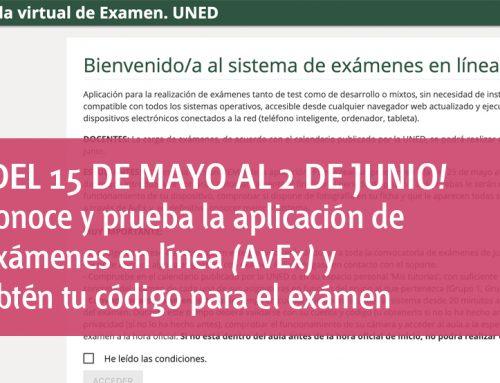 Conoce y prueba la aplicación de  exámenes en línea (AvEx) y obtén tu código para el exámen