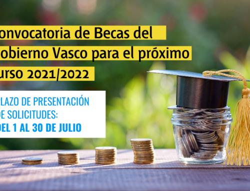 Convocatoria de Becas del Gobierno Vasco para el próximo curso 2021/2022