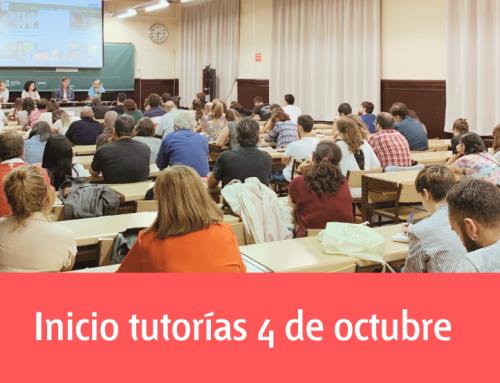 Inicio de tutorías el 4 de octubre